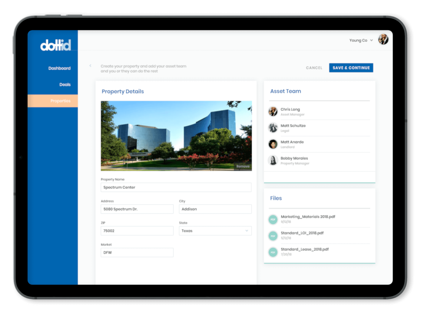 Dottid App for Commercial Real Estate by Dallas Mobile Developers at 7T