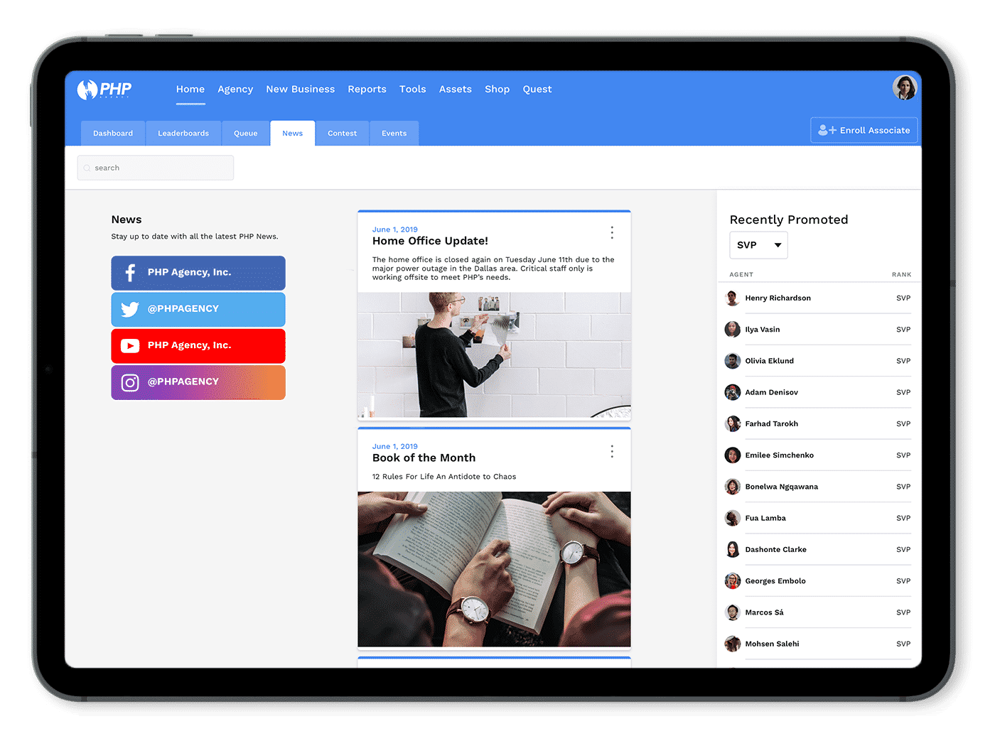 PHP Web Portal - News