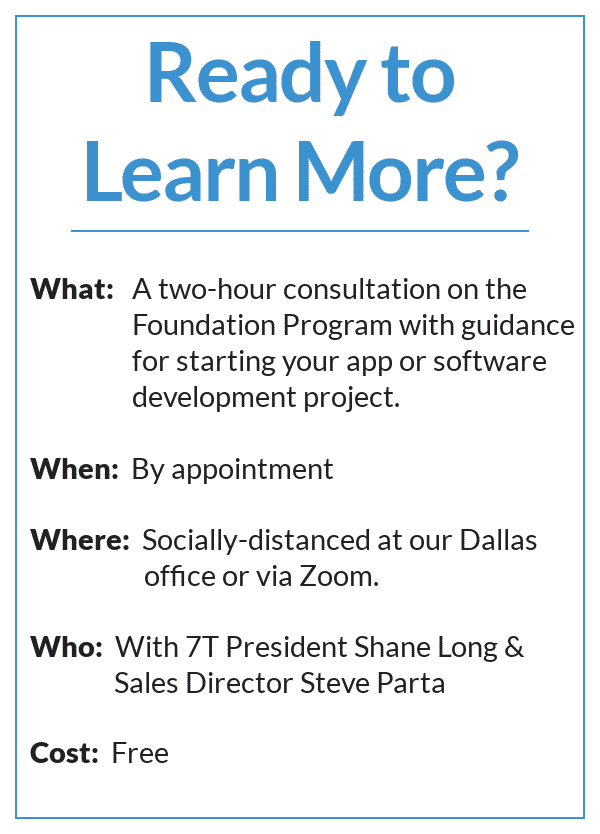 7T's Foundation Program Will Get Your Development Project Off the Ground
