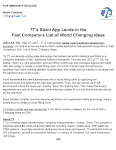 7T's Sizini App Lands in the Fast Company's List of World Changing Ideas